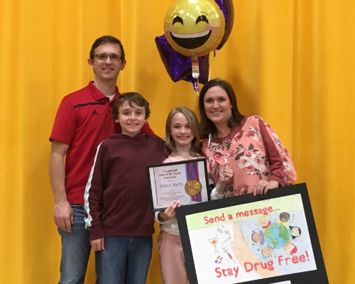 IS Fourth Grader Wins Poster Contest!