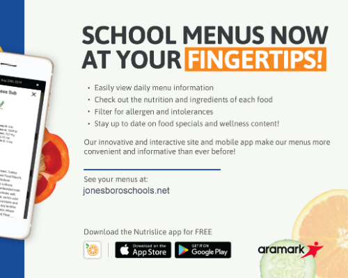 Nutrislice app available for students