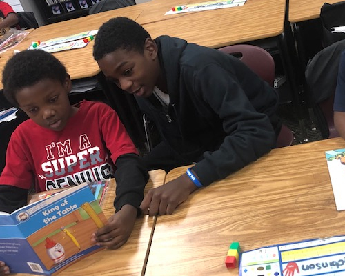6th Graders are Book Buddies in 1st Grade