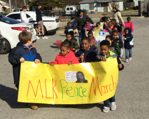 Dr. Martin Luther King Jr. Peace Parade March at Pre-K North