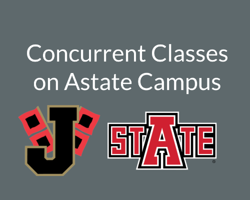 Astate logo and JPS logo on grey background