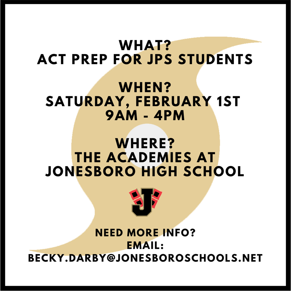 ACT Prep scheduled for Saturday, February 1