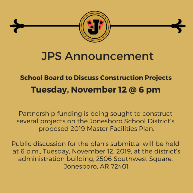 JPS To Discuss Construction Projects Nov. 12