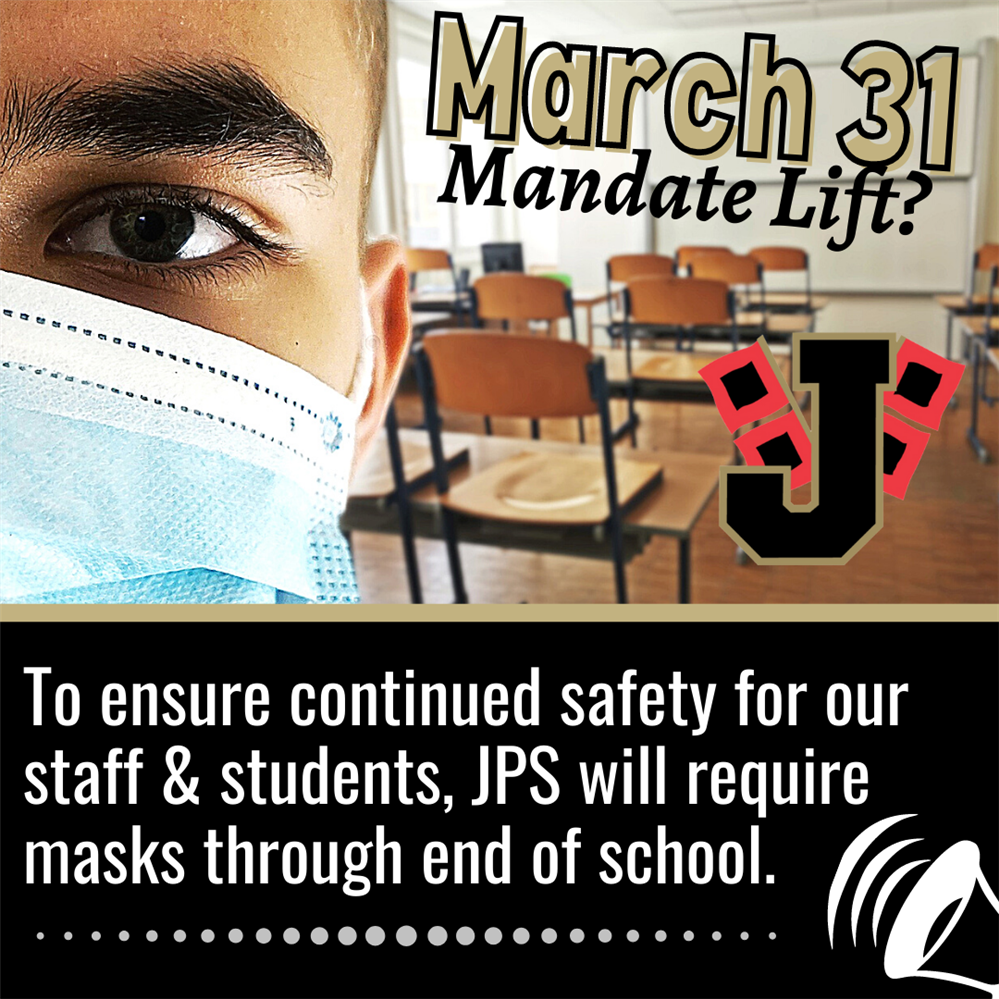 JPS mask mandate extended through end of school year