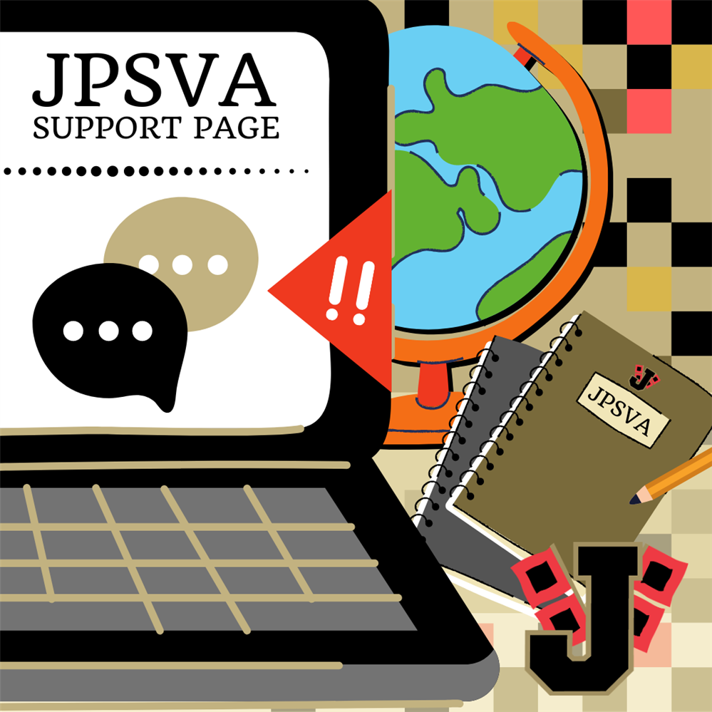 Image of computer titled JPSVA Support